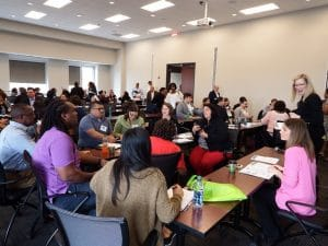 A full house at HomeAid's 2017 Housing Forum brought energy, best practices, and shared strategies to one of several break-out sessions during the half-day program.